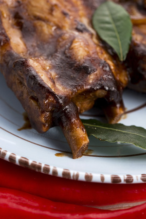 Barbecued Pork Baby Back Ribs photo