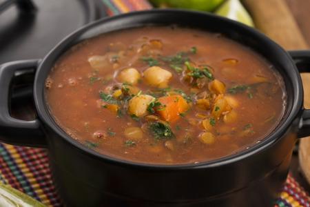 berber: Moroccan traditional soup - harira, the traditional Berber soup of Morocco Stock Photo