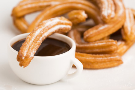 deliciuos spanish Churros with hot chocolate