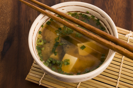 hashi: Japanese miso soup Stock Photo