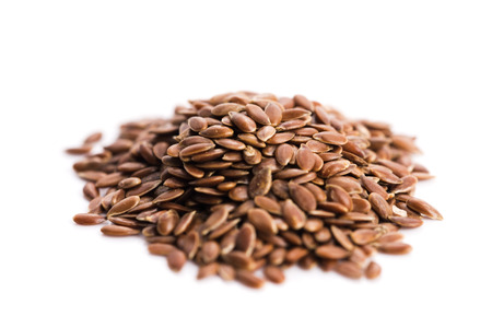 Flax seeds, Linseed, Lin seeds close-up 写真素材