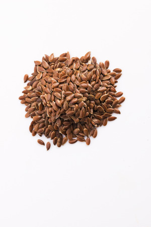 common flax: Flax seeds, Linseed, Lin seeds close-up Stock Photo