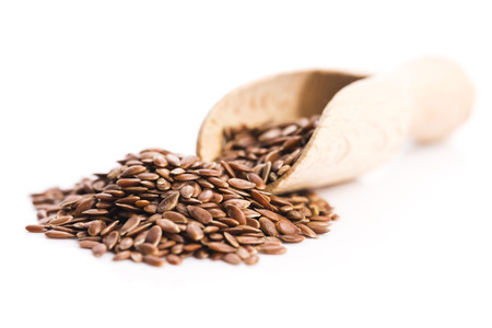 Flax seeds, Linseed, Lin seeds close-up photo