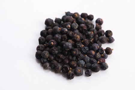 juniper: Juniper berries on white background