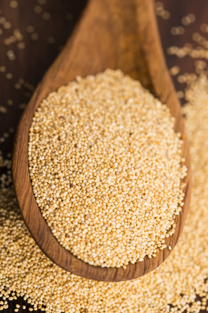 unsaturated: White poppy seeds Stock Photo
