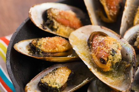Delicious Fresh Clams with herbs photo