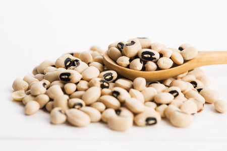 black beans: black eye beans