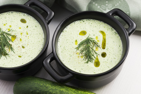 bulgarian: Tarator, bulgarian sour milk soup