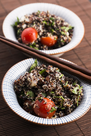 tabbouleh: Tabbouleh Quinoa with tomatoes, onion, mint, parsley and lemon
