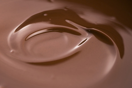 melted chocolate close up
