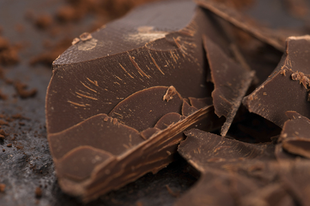 Chopped chocolate Stock Photo