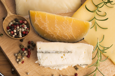 types: Various types of cheese