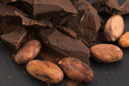 cacao: Chopped chocolate with cacao