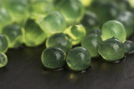 gastronomy: mint caviar, molecular gastronomy