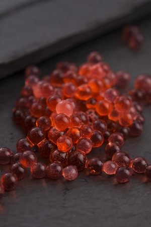 gastronomy: strawberry caviar, molecular gastronomy
