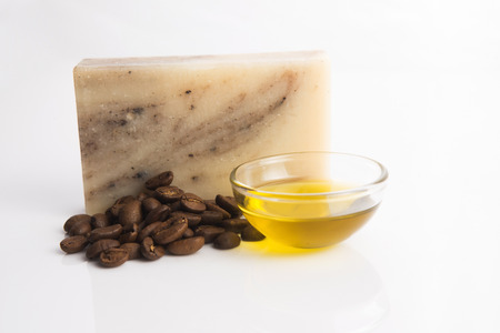 cosmetics products: Coffee soap Stock Photo