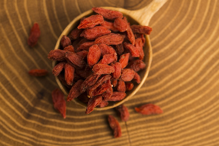 wolfberry: Portion of dried Goji Berries (also known as Wolfberry)