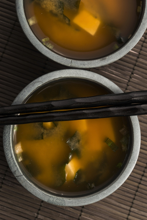 dashi: Japanese miso soup Stock Photo