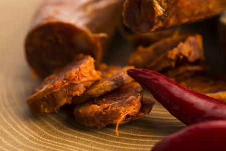 chorizo: spanish traditional chorizo sausage, with fresh herbs