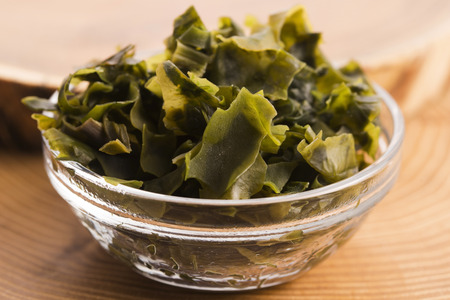 soaked: soaked wakame seaweed, japanese food