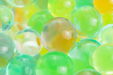 Color balls, hydrogel beads Stock Photo