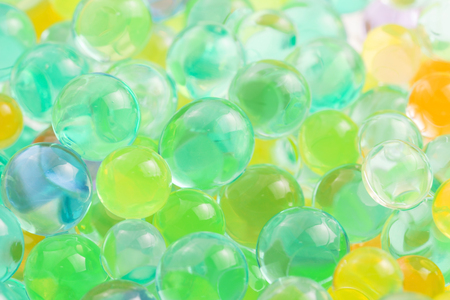 limpid: Color balls, hydrogel beads Stock Photo