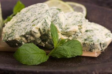 lemon balm: herbs butter