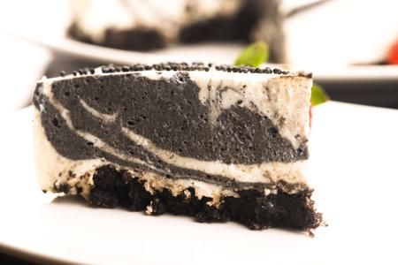 Black sesame cheese cake