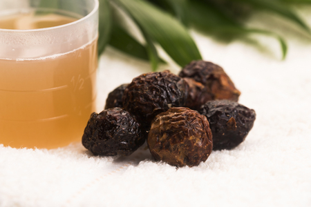 Soap nuts. Pile, cleanser.