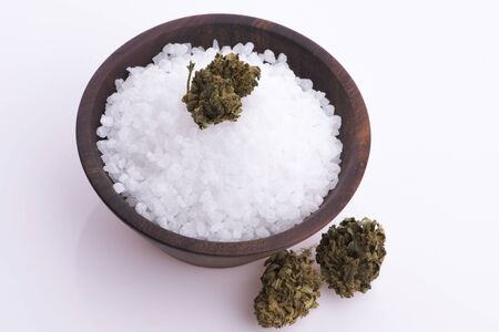 Cannabis salt, marijuana wellness products Reklamní fotografie