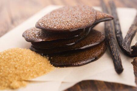 Melted brown sugar caramel with vanilla