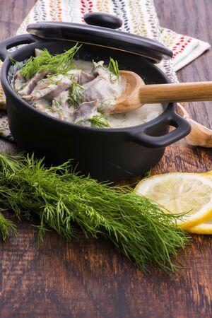 Turkish traditional tripe soup