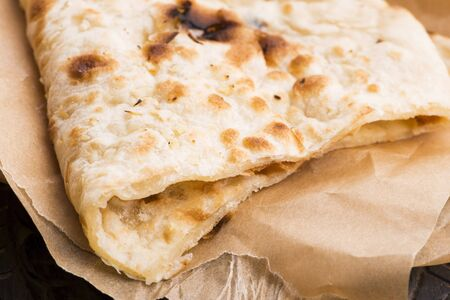 Garlic Naan, Indian flat bread