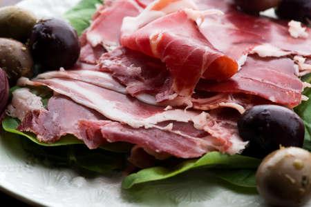 Traditional portuguese dry cured ham, presunto portugues