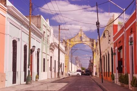 a street in Merida, Yucatan, Mexico  Stock Photo