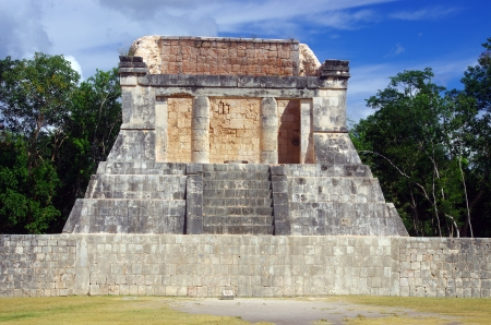 an altar in Chichen Itza, Yucatan, Mexico  photo