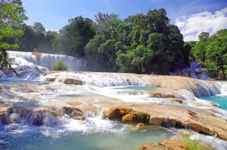 azul: Aqua Azul waterfall, Chiapas, Mexico