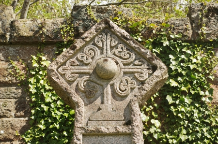 rosicrucian: rosicrucian cross on a cemetery in Roslin, Scotland