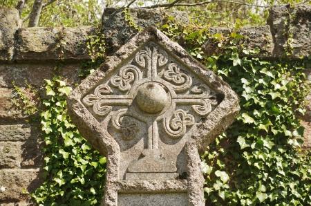 rosicrucian: rosicrucian cross on a cemetery in Roslin, Scotland