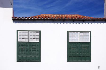 windows of a house in Arrecife, Lanzarote, Canary Islands Stock Photo - 25327867