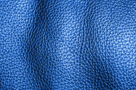 blue dyed natural leather furniture coverage texture background Stock Photo