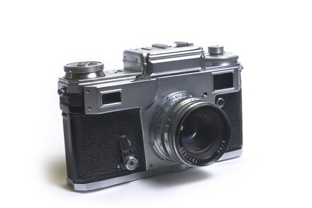 old Russian rangefinder camera  Stock Photo