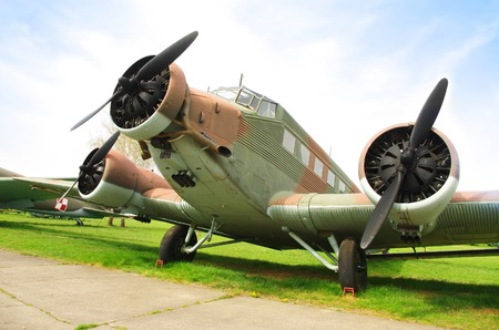 Junkers Ju 52 German trimotor transport airplane