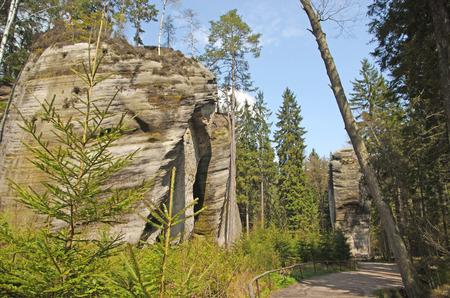 strange stone structures in Skalne Mesto Ardspach Czech Republic, Sudety, Stolowe mountains