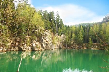 mountain lake in Skalne Mesto Ardspach in Czech Republic