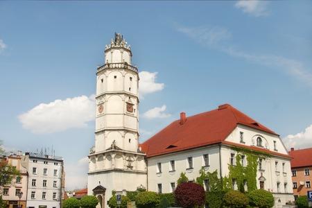street of Paczkow city of towers, Silesia, Poland Stock Photo - 28349766