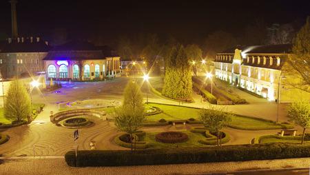 The pump-room in Kudowa Zdroj, lower silesia, Poland at night