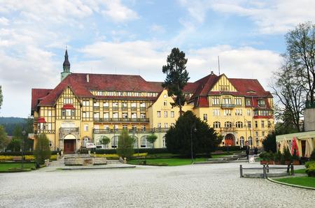 The old sanatorium in Kudowa Zdroj, lower silesia, Poland