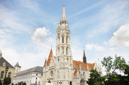 Matthias church on the castle hill in Budapest, Hungary
