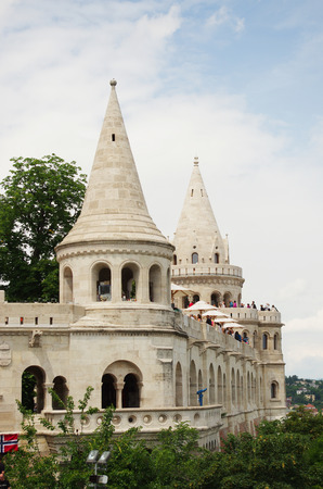 The Fisherman s Bastion on the castle hill in Budapest, Hungary Stock Photo - 30671485